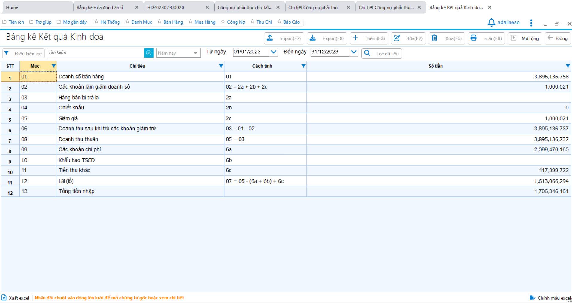 Phần mềm bán hàng nhôm kính sắt thép - Phiếu xuất kho