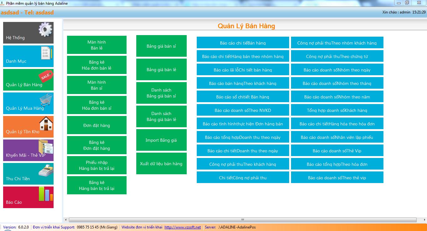 Phần mềm bán hàng hoa và quà tặng - Quản lý bán hàng theo điểm- màn hình POS
