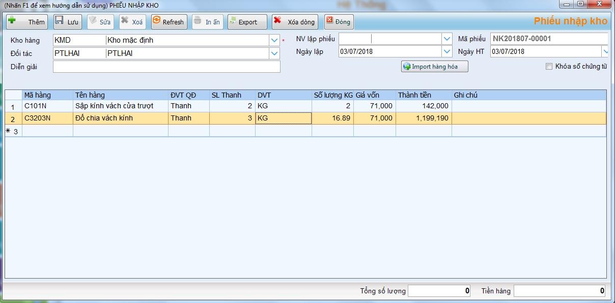 Phần mềm  bán hàng thực phẩm nông sản - Thanh toán